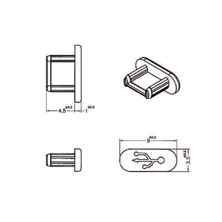 DELOCK 10 x USB-Micro-B Port bloquant