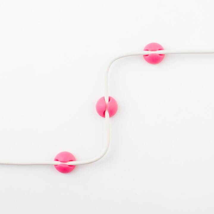 CABLE CANDY Kabel-Clip Small Beans 5x Grün, 5x Pink