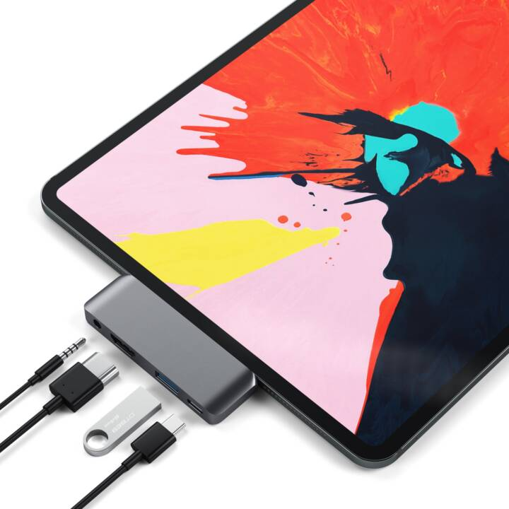 SATECHI Multiport Adapter (HDMI, USB 3.0 Typ-A, USB 3.0 Typ-C, 3.5 mm Klinke)