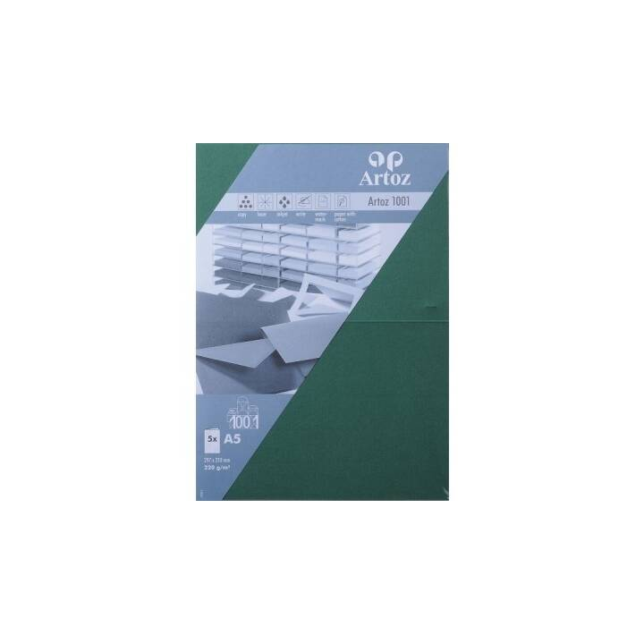 ARTOZ Cartes en blanc (Universel, A5, Vert)