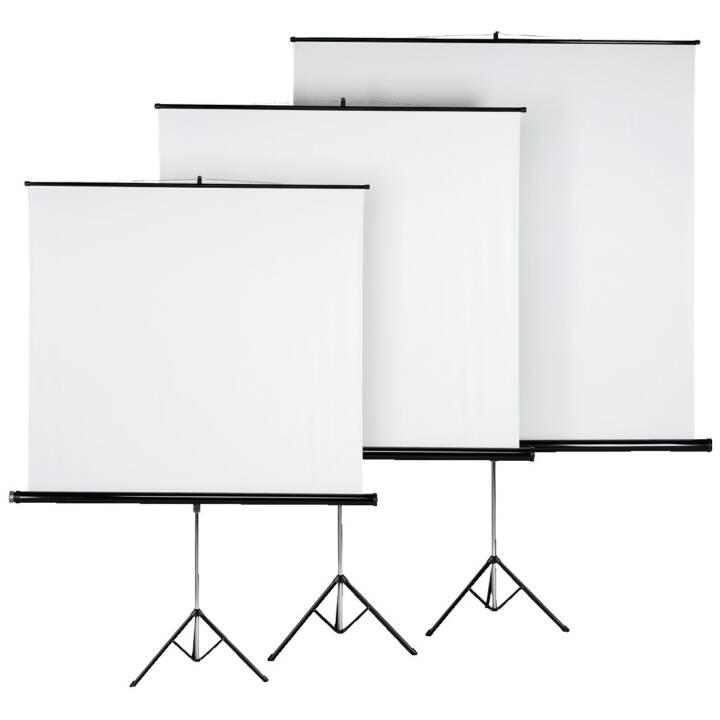 Ecran HAMA avec trépied, 125 x 125 cm, blanc