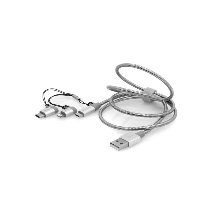 VERBATIM Sync & Charge 3 in 1 Lightning Micro USB-B Handykabel