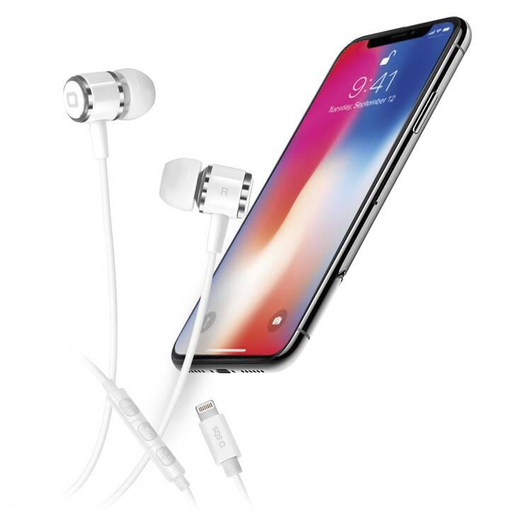 SBS In-Ear-Headset mit Lightning-Kabel (In-Ear, Weiss)