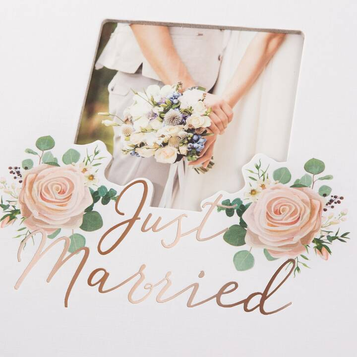 GOLDBUCH Just Married Album fotografico (Bianco, Pink, Multicolore)