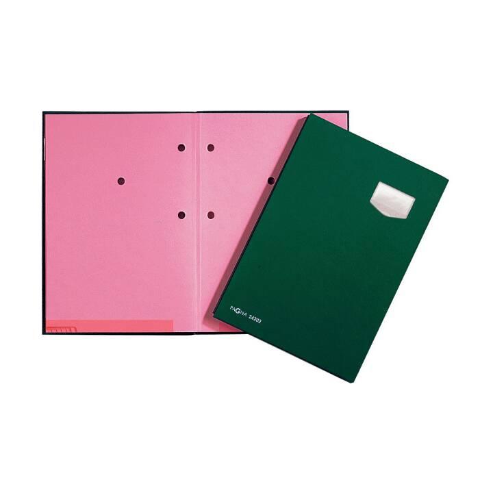 PAGNA Unterschriftenmappe A4 grün