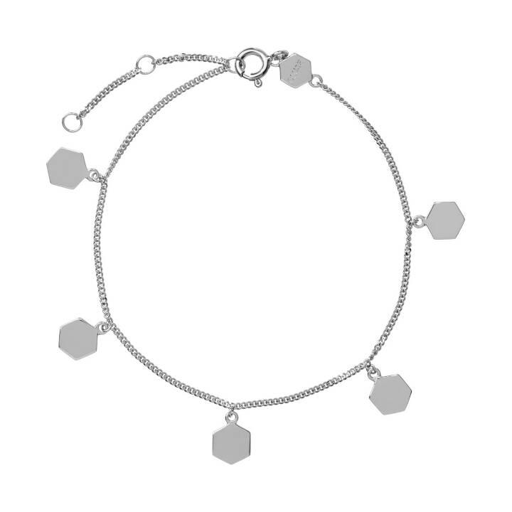 CLUSE Essentielle Hexagon  Armkette (Rhodiniertes Sterlingsilber, 15 cm)