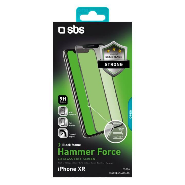 SBS Vetro protettivo da schermo iPhone XR (Chiara)