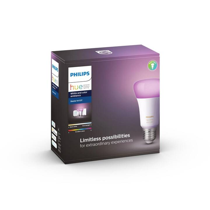 PHILIPS HUE Ampoule LED White & Color Ambiance BT (E27, 9 W)