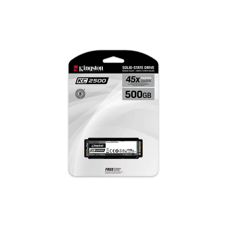KINGSTON TECHNOLOGY KC2500 (PCI Express, 500 GB)