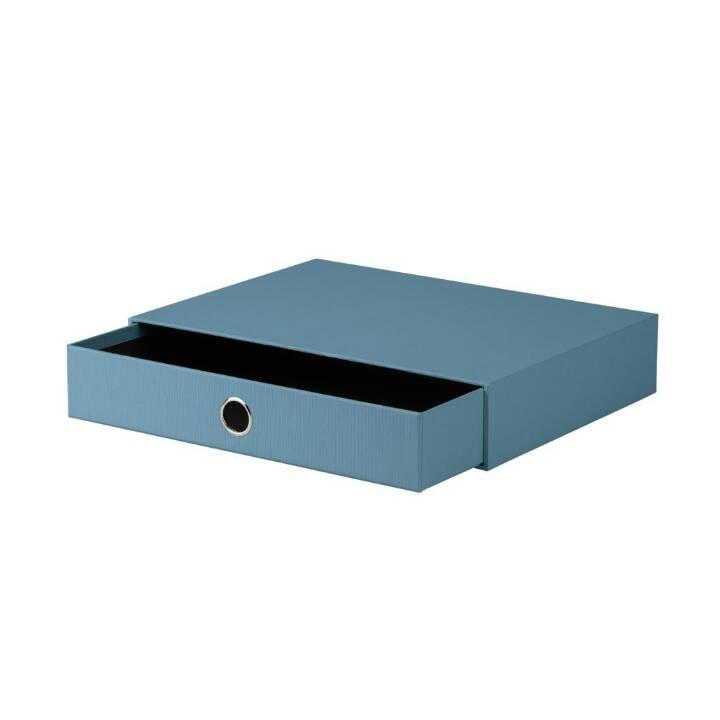 RÖSSLER PAPIER Boite à tiroirs de bureau (A4, Bleu, Noir)