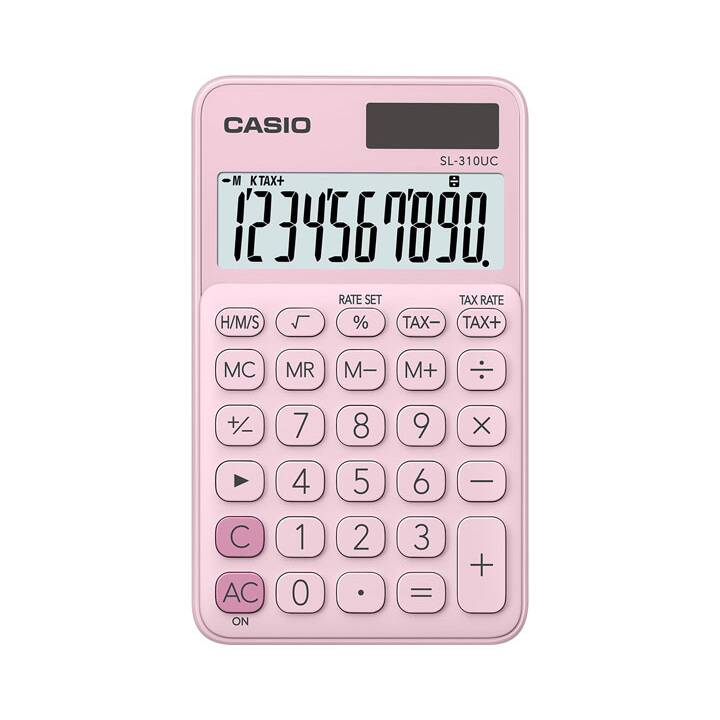 CASIO Taschenrechner, 10-stellig, Pink