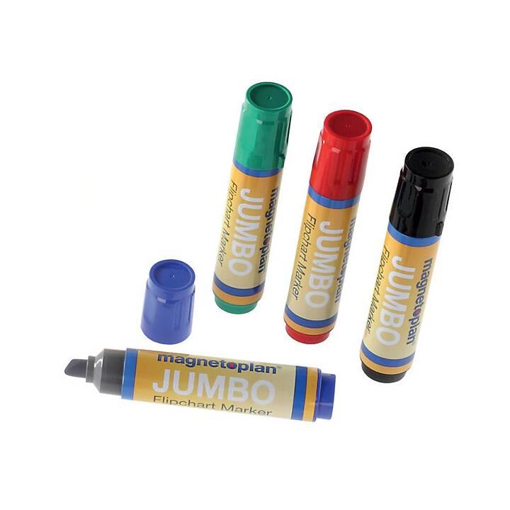 MAGNETOPLAN Indicatore di lavagna a fogli mobili Jumbo (Blu, Verde, Rosso, Nero, 8 pezzo)
