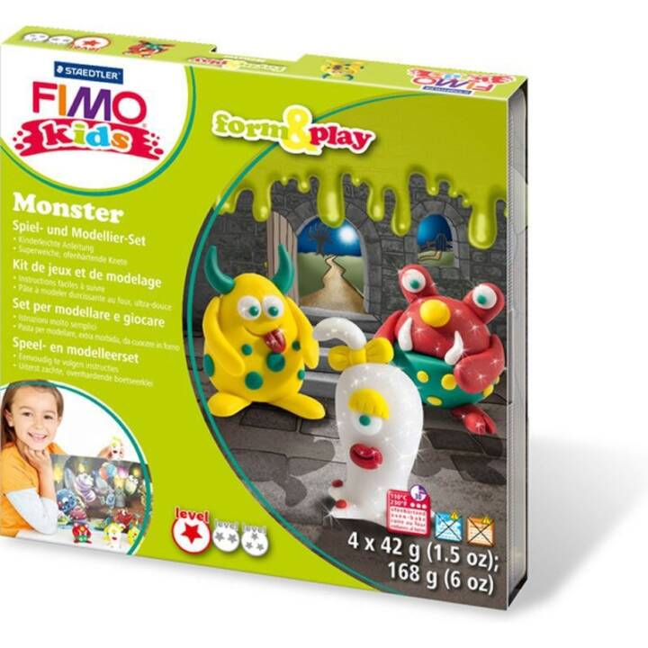 FIMO Kids Form & Play Monster Modelierset