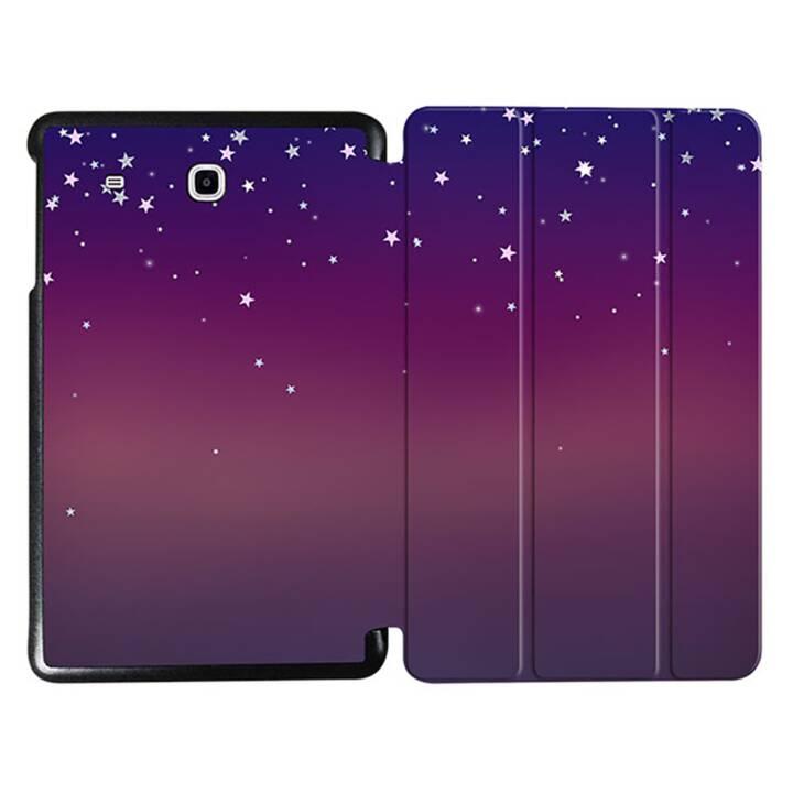 """EG MTT Tablet Tasche mit faltbarer Abdeckung für Samsung Galaxy Tab E 9.6 """"- Sterne"""