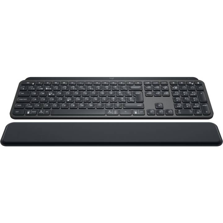LOGITECH MX Keys Plus - Advanced Wireless Illuminated Keyboard with Palmrest (CH, Sans fil)
