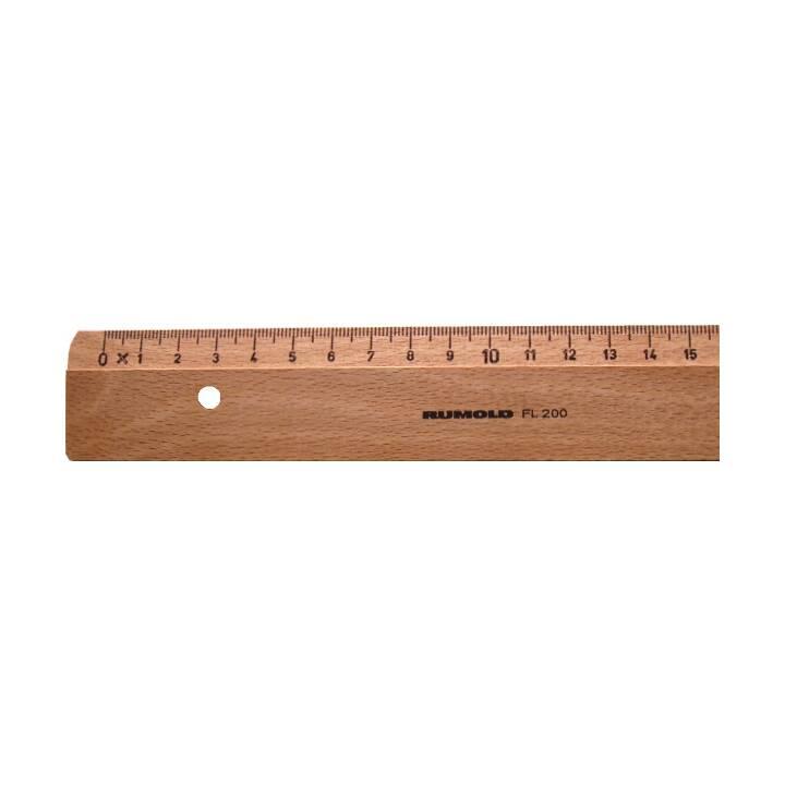 RUMOLD Flachlineal 30cm Buche
