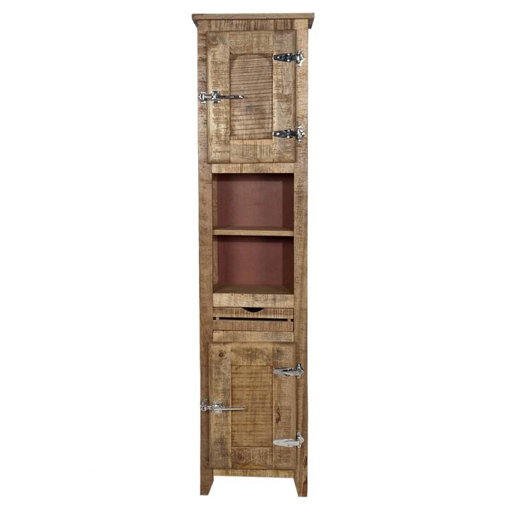SIT-MÖBEL Fridge Natural Highboard (187 cm x 46 cm x 30 cm)