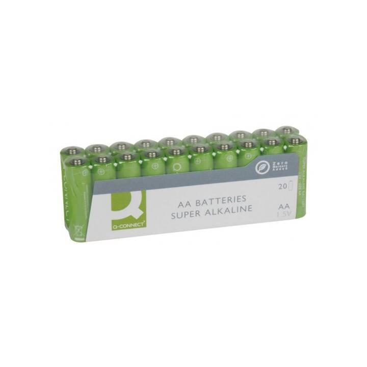 Q-CONNECT Batterie (AA / Mignon / LR6, 20 pièce)