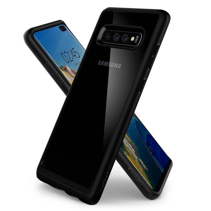 SPIGEN Backcover (Galaxy S10+, Noir, Transparent)