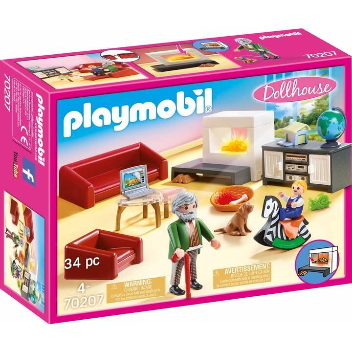 PLAYMOBIL Dollhouse Soggiorno con camino (70207)