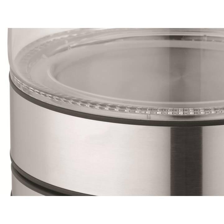 TRISTAR WK-3377 (1.7 l, Transparente, Argento, Nero, Acciaio inox)