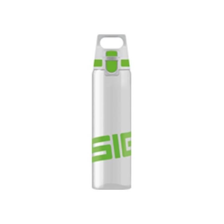 SIGG Trinkflasche (0.75 l, Transparent, Grün)