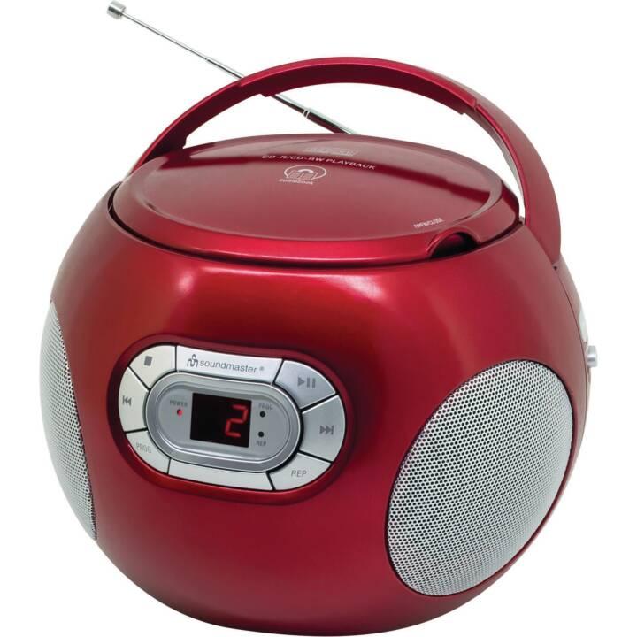 SOUNDMASTER Portabler Radio/CD-Player Radios de chantier (Rouge)