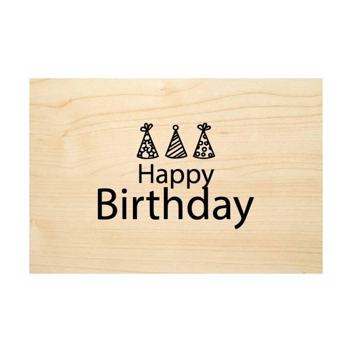 "SO HOT Glückwunschkarte ""Happy Birthday"" (Geburtstag, C6, Braun)"