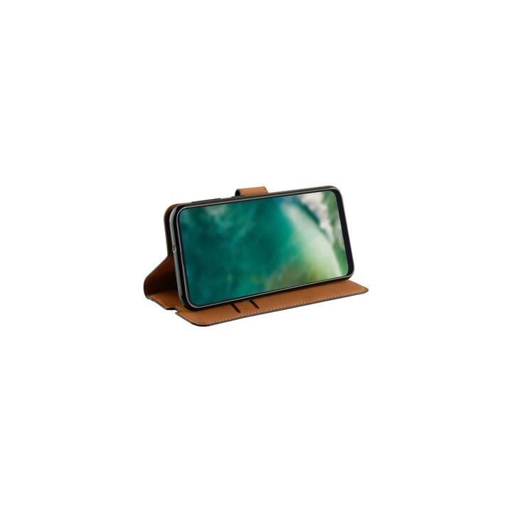 XQISIT Flipcover Slim Wallet (Galaxy A21, Nero)