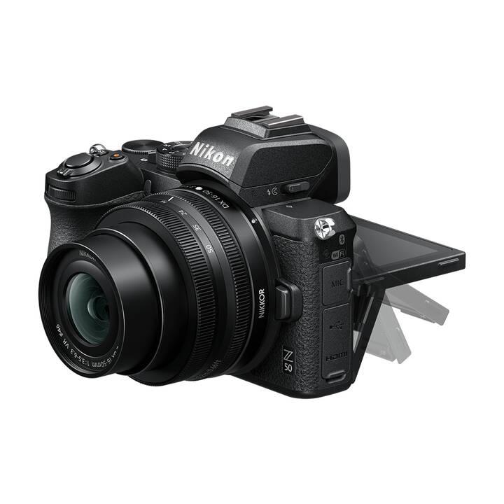 NIKON Z50 + 50-250 mm F/4.5-6.3 + 16-50mm F/3.5-6.3 Kit (20.9 MP, WLAN)