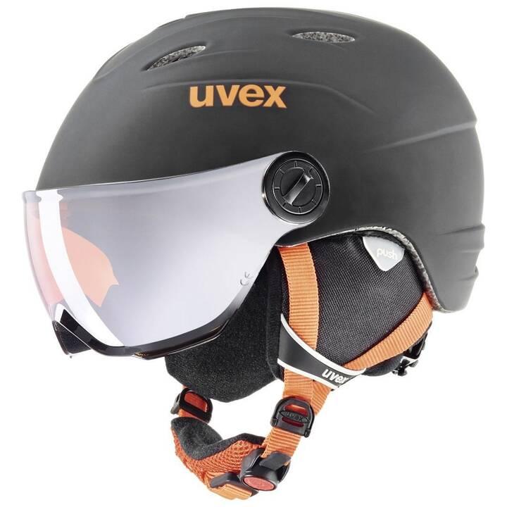 UVEX Skihelm (Orange, Schwarz)
