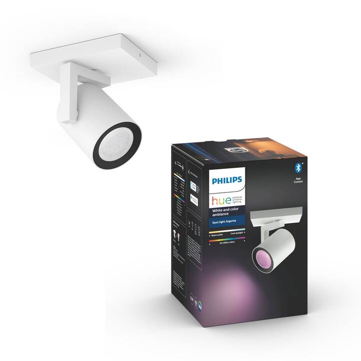 PHILIPS HUE Aufbauspots Argenta White and Color Ambiance 1 Spot BT (6.5 W)