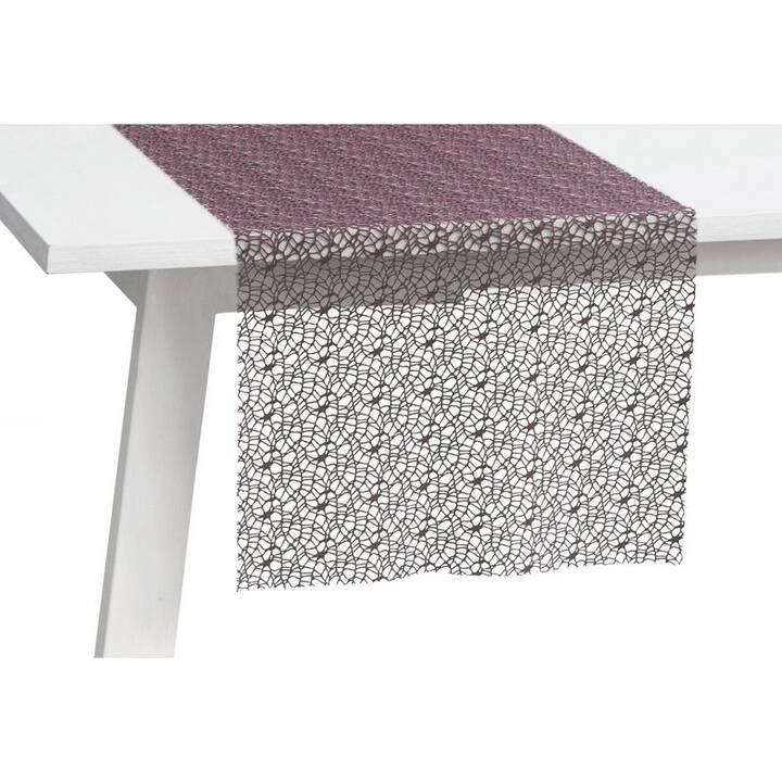 PICHLER Chemin de table Network (30 cm x 260 cm, Rectangulaire, Violet)