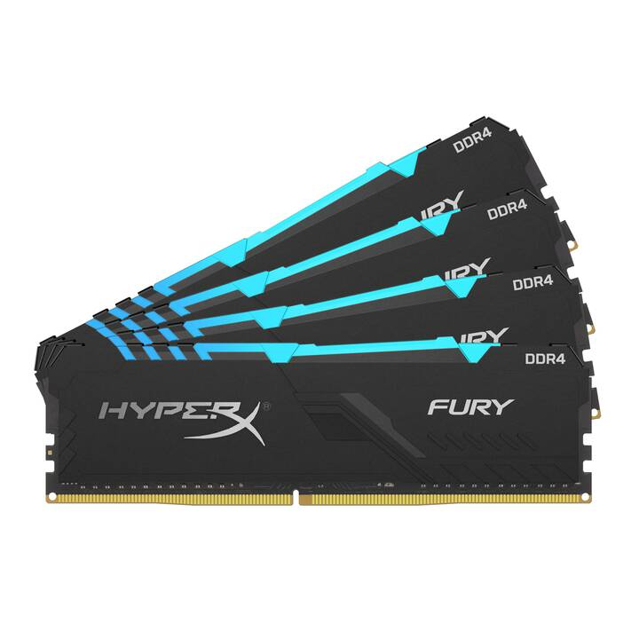 KINGSTON TECHNOLOGY HyperX Fury (4 x 16 Go, DDR4-SDRAM, DIMM 288-Pin)