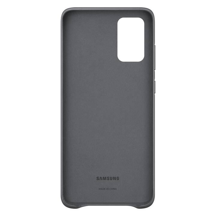 SAMSUNG Backcover Leather (Galaxy S20+, Grigio)