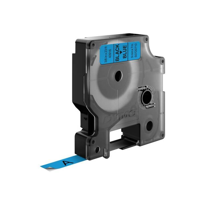 D1-TAPE 9MM X 7M BLACK ON BLUE