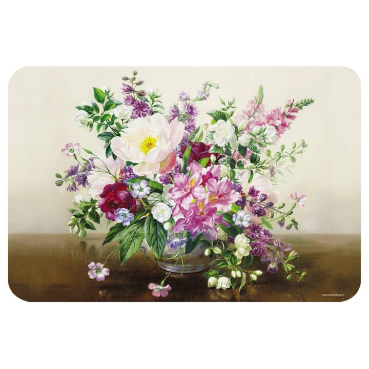 EASY LIFE Tischset Bouquet Naturel (1 Stk, Polypropylen, Mehrfarbig)