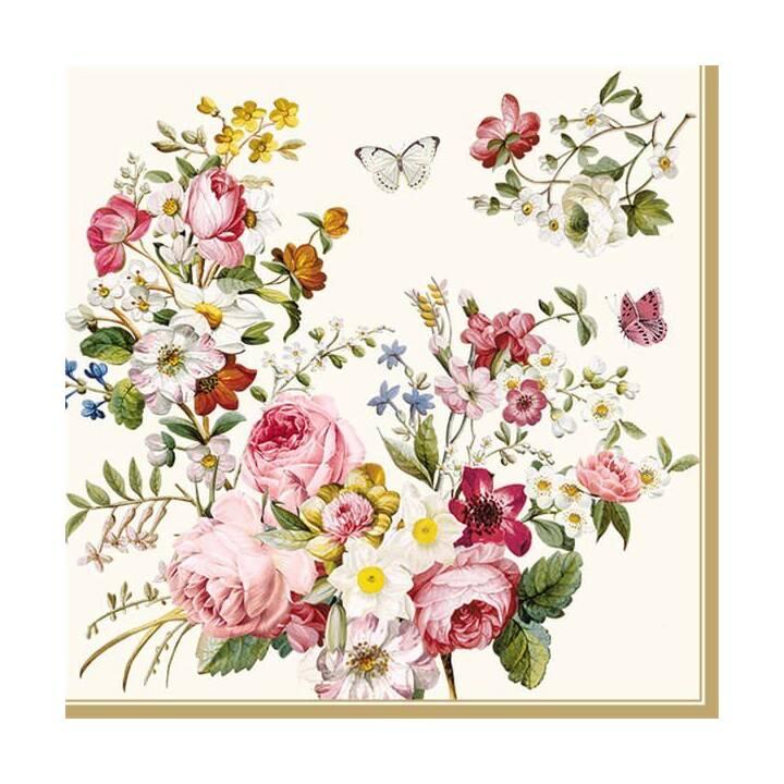 EASY LIFE Papierserviette Blooming Opulence (20 Stk, Gemustert)