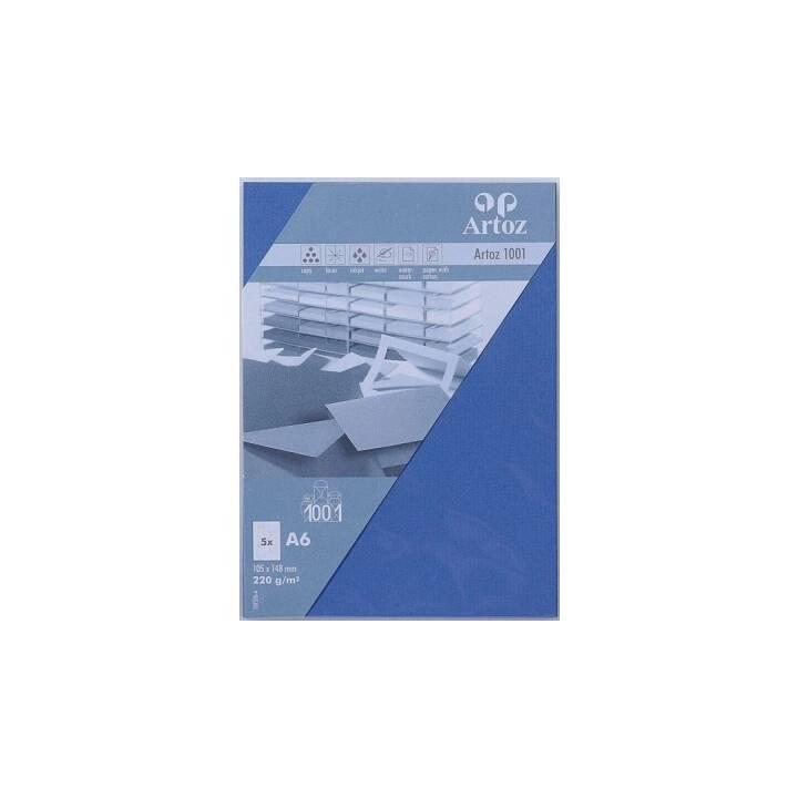 ARTOZ Biglietto in bianco 1001 (Universale, A6, Blu)