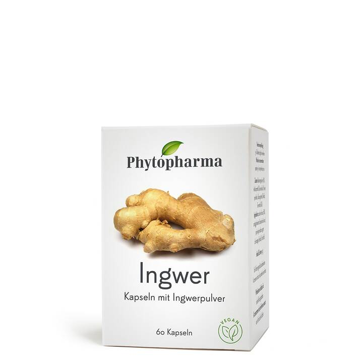 PHYTOPHARMA Ingwer Kaps 365 mg 60 Stk