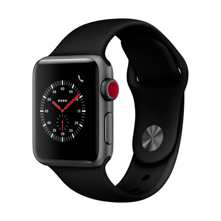 APPLE Watch Series 3 GPS + Cellular (38.0 mm, Aluminium, Silikon)