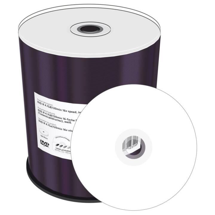 MEDIARANGE Inkjet Fullsurface-Printable 100 x DVD-R 4,7 GB stampabile