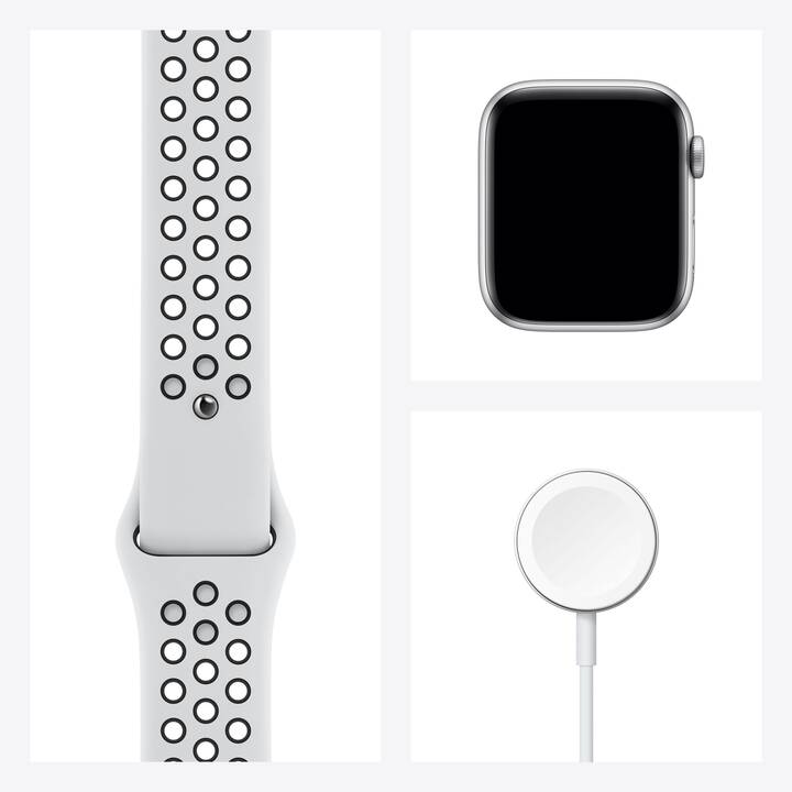 APPLE Watch Nike Series 6 GPS + Cellular (44 mm, Alluminio, Silicone)
