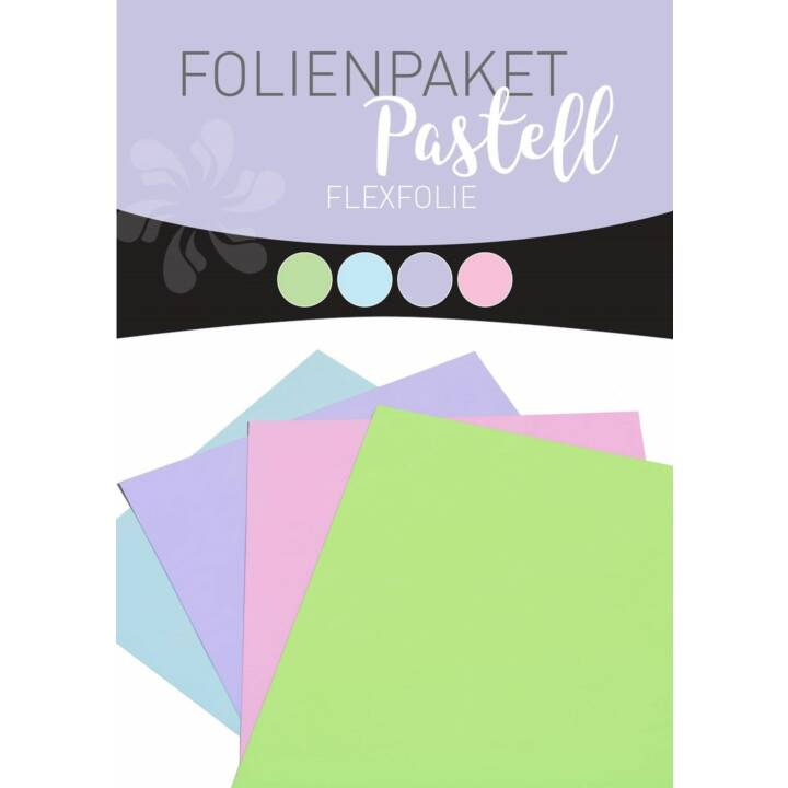 STAHLS Set Pastello Flex Set per pellicole Iron-on film Flex Set