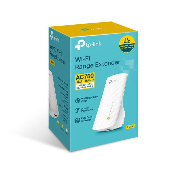 TP-LINK Repeater RE220 - Wi-Fi-Range-Extender