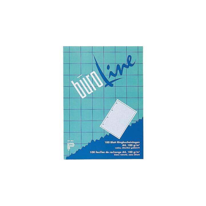 BÜROLINE Foglio di input (A4, Quadrettato, 100 pezzo)