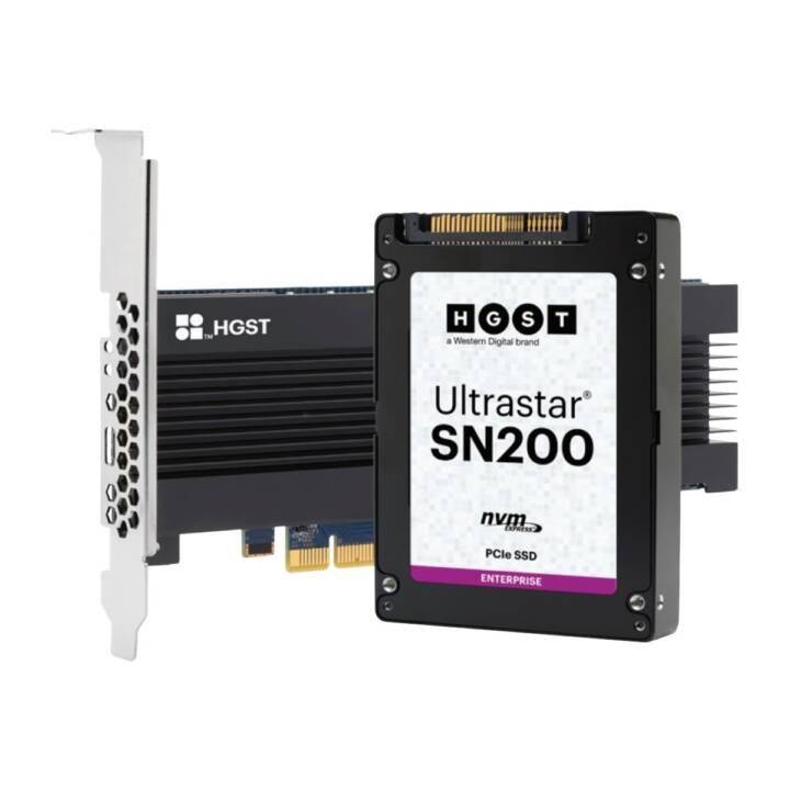HGST Ultrastar SN200 HUSMR7664BHP301 (PCI Express, 6.4 TB, Schwarz)