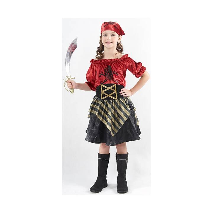 FASNACHT Piratin (Schwarz, Rot)