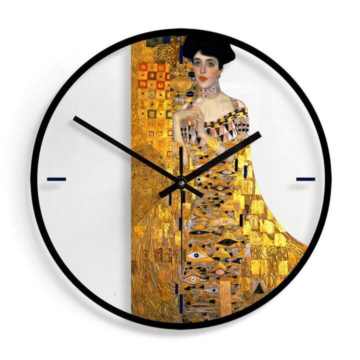 TRENDDEKO Klimt - Bildnis der Adele Bloch-Bauer Orologio da parete (Analogico, 30 cm)