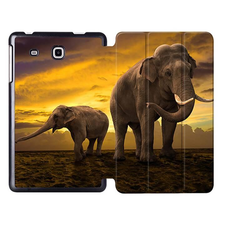 """EG MTT Tablet Tasche mit Smart faltbare Abdeckung für Samsung Galaxy Tab A A6 7 """"- Elefant"""